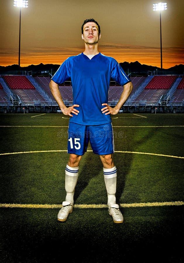 Piłka nożna mężczyzna obrazy royalty free