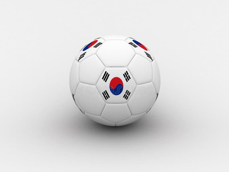 piłka nożna na Korei royalty ilustracja