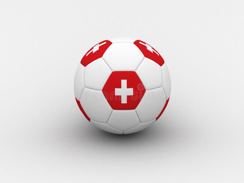 piłka nożna na Szwajcarii ilustracji