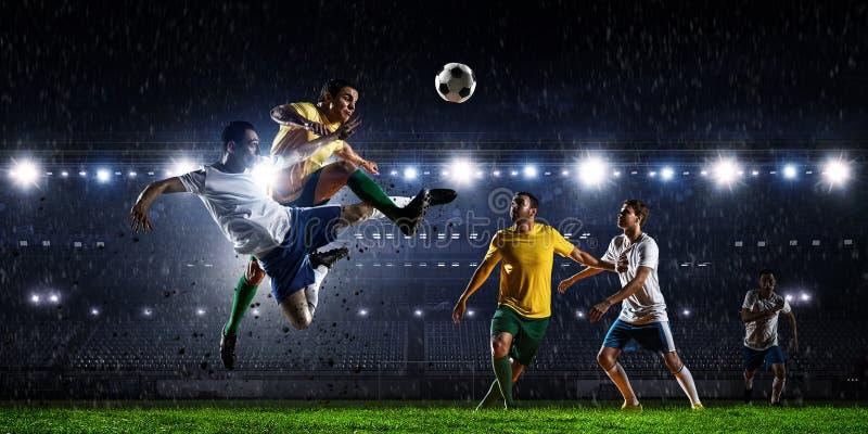 Piłka nożna najlepszy momenty Mieszani środki zdjęcie stock