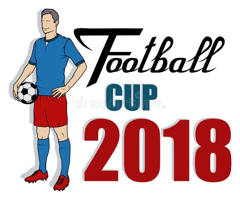 Piłka nożna puchar świata Pojęcie futbol 2018 Rosja Światowy futbolowy mistrzostwo royalty ilustracja