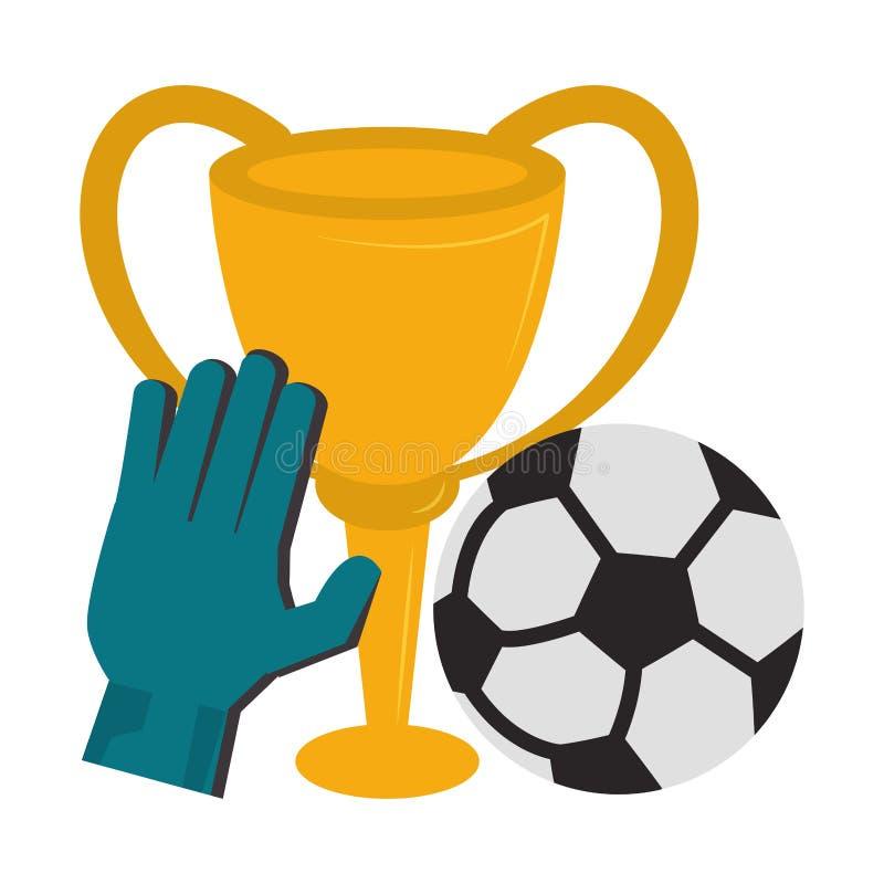 Piłka nożna sporta tournamente gry kreskówki royalty ilustracja