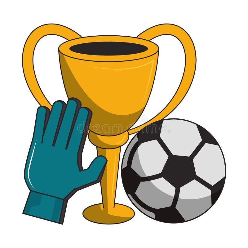 Piłka nożna sporta tournamente gry kreskówki ilustracji