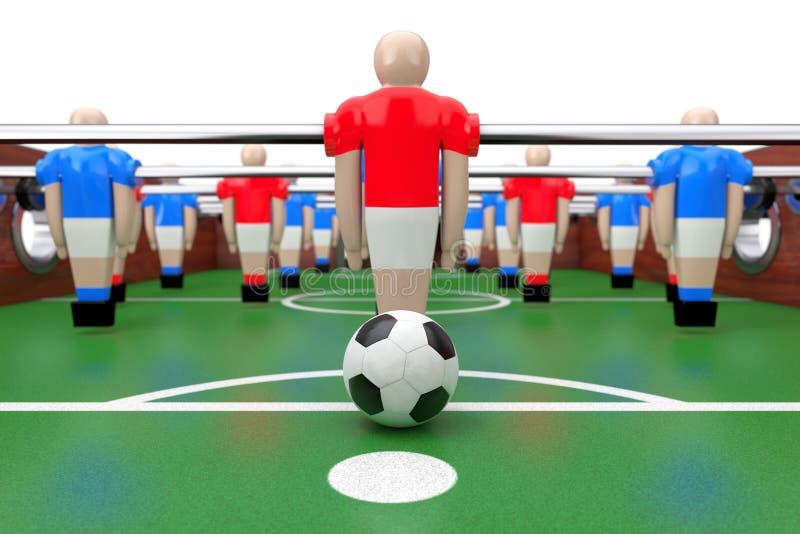 Piłka nożna Stołowy mecz futbolowy świadczenia 3 d ilustracja wektor
