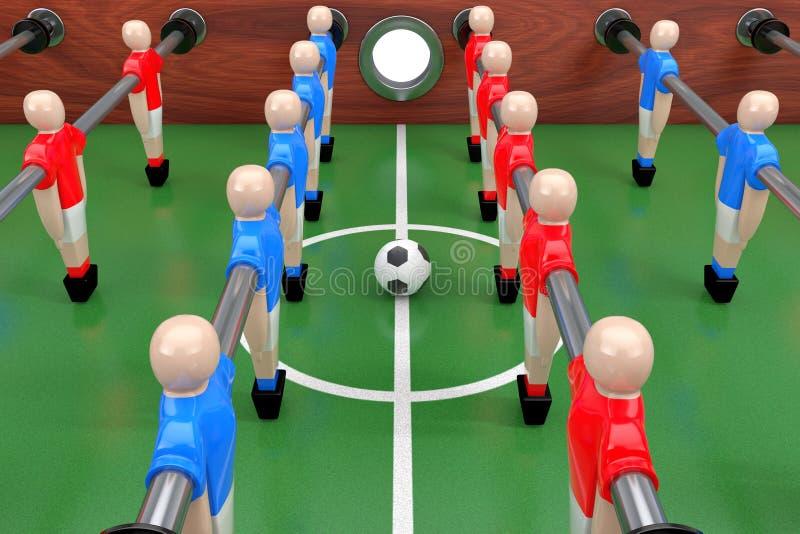 Piłka nożna Stołowy mecz futbolowy świadczenia 3 d ilustracji