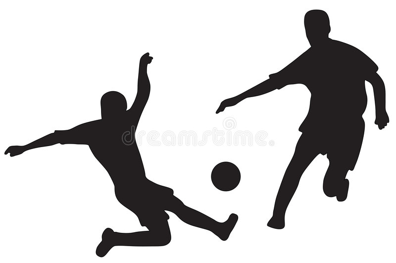 piłka nożna sylwetek gracza ilustracja wektor