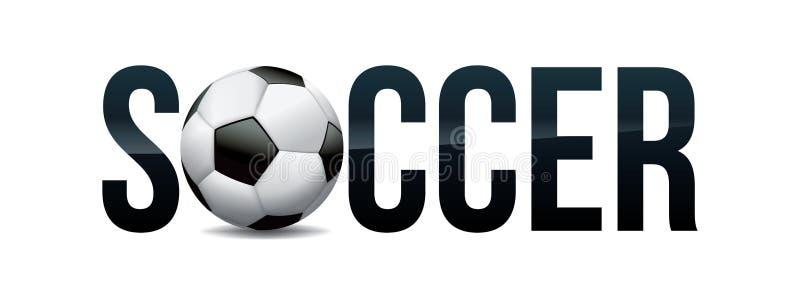 Piłka nożna tematu słowa sztuki ilustracja ilustracji