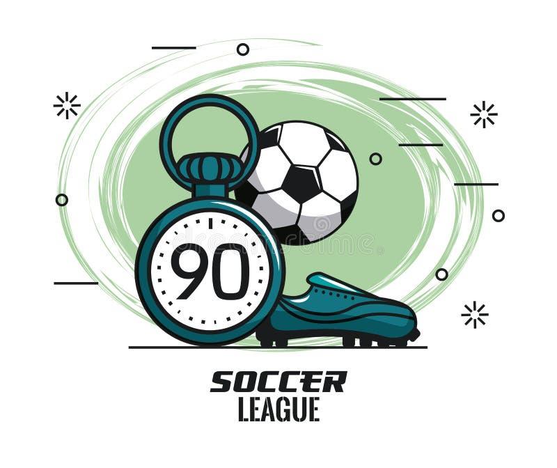 Piłka nożna turnieju liga ilustracja wektor