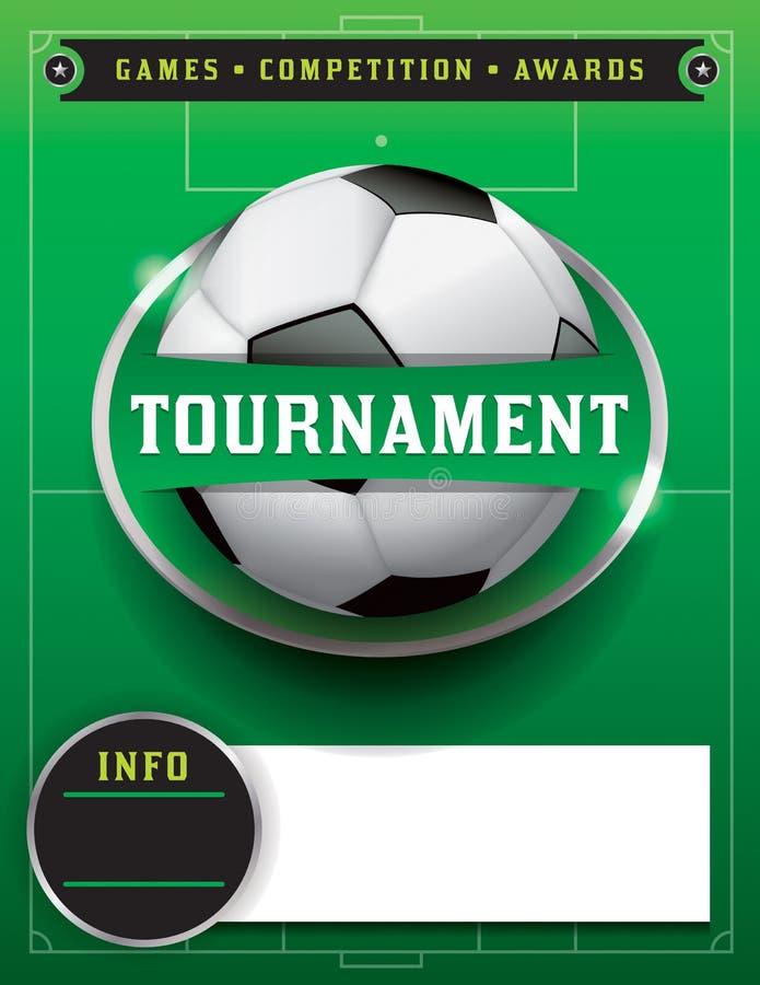 Piłka nożna turnieju szablonu Futbolowa ilustracja ilustracja wektor