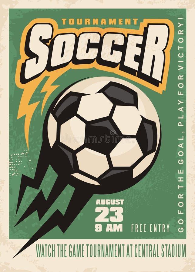 Piłka nożna turnieju wektorowy plakatowy szablon royalty ilustracja
