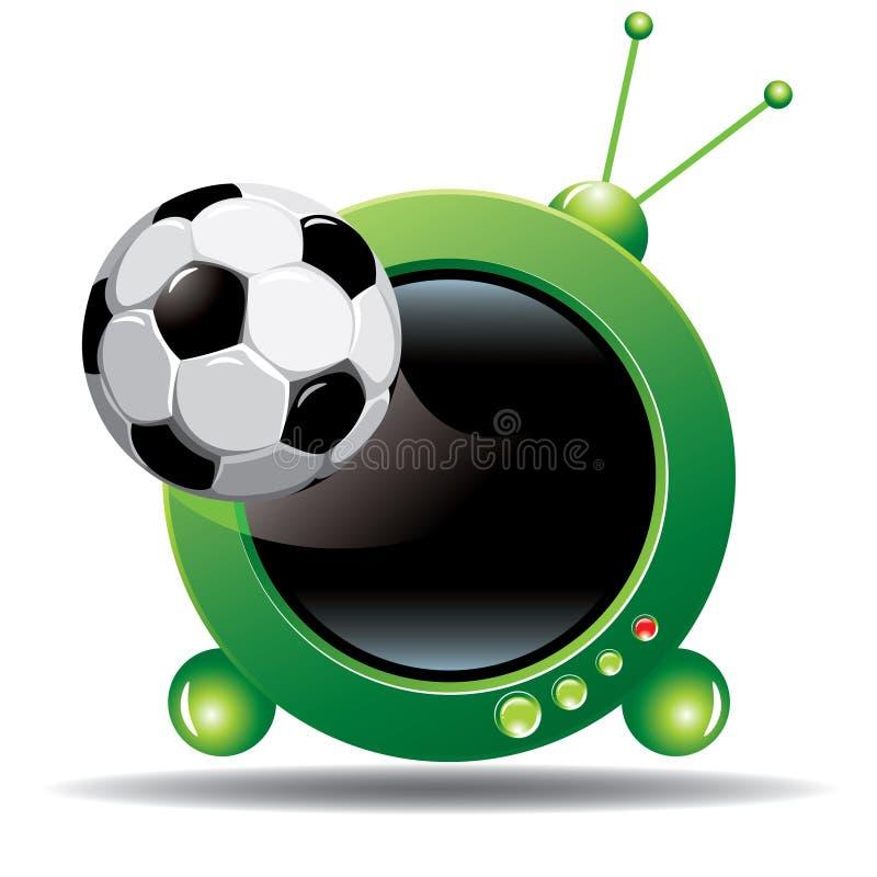 piłka nożna tv ilustracji