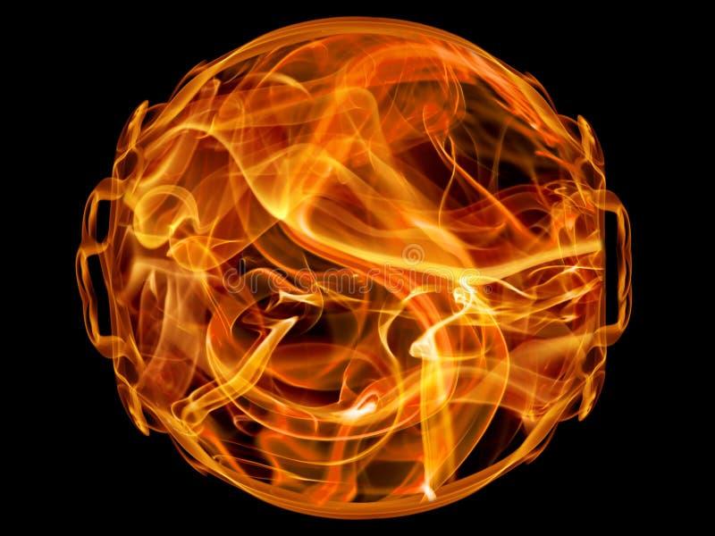 piłka ogień royalty ilustracja