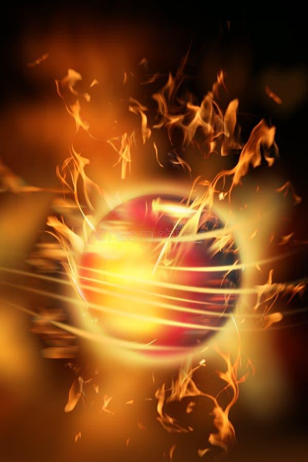 piłka ogień ilustracja wektor