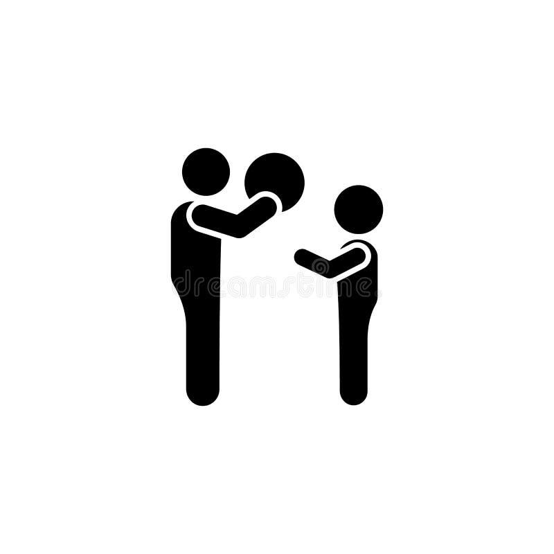 Piłka, ojciec, chłopiec, sztuki ikona Element dziecko piktogram Premii ilo?ci graficznego projekta ikona znaki i symbole inkasowi ilustracja wektor