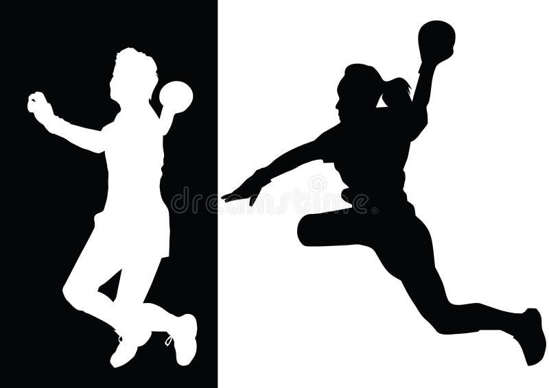 piłka ręczna ilustracji