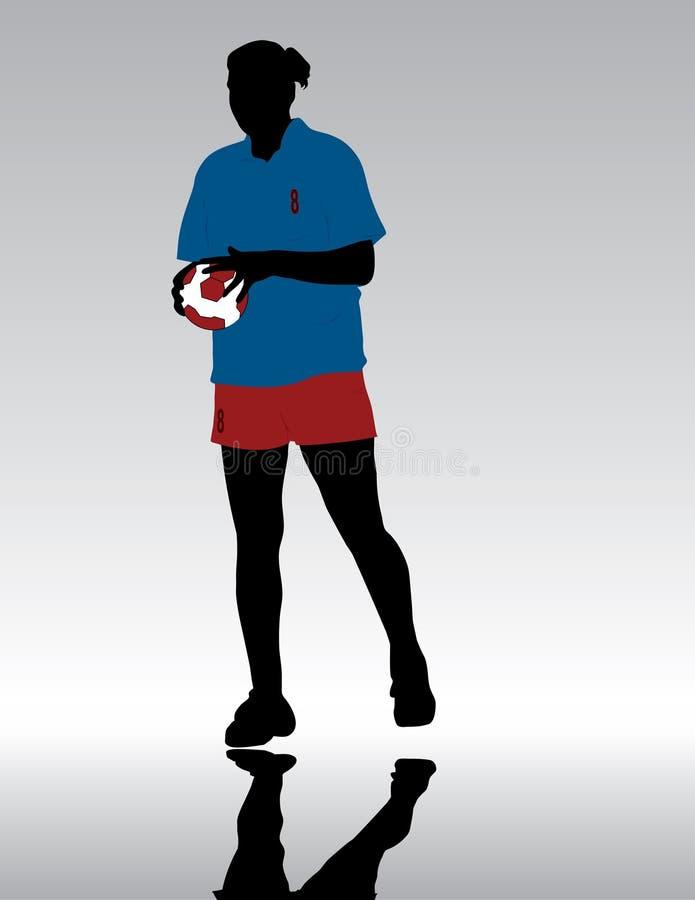 piłka ręczna royalty ilustracja