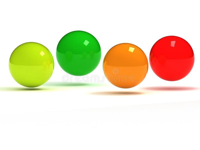 piłka set kolorowy szklany royalty ilustracja