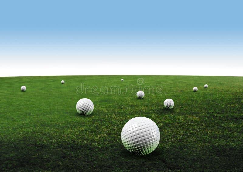 piłka w golfa ilustracja wektor