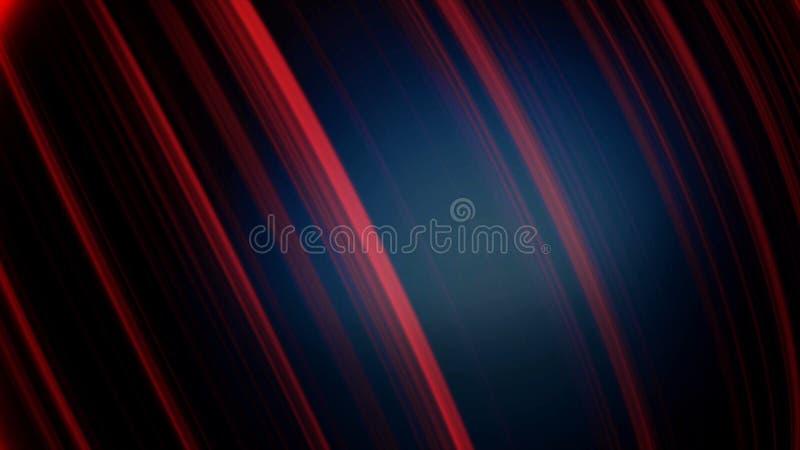 Piłka w neonowych liniach Abstrakcjonistyczna animacja trójwymiarowy czarny sfery przędzalnictwo z neonowymi liniami i świeceniem ilustracja wektor
