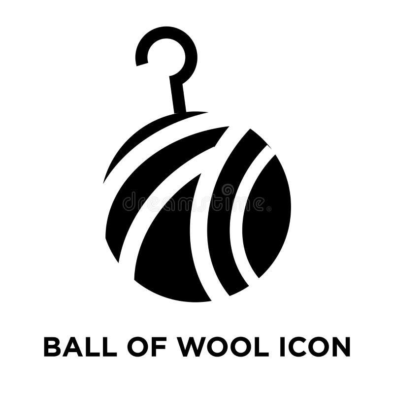Piłka wełny ikony wektor odizolowywający na białym tle, logo conc ilustracji