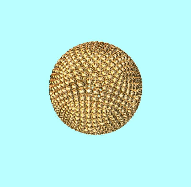piłka złota atom. royalty ilustracja