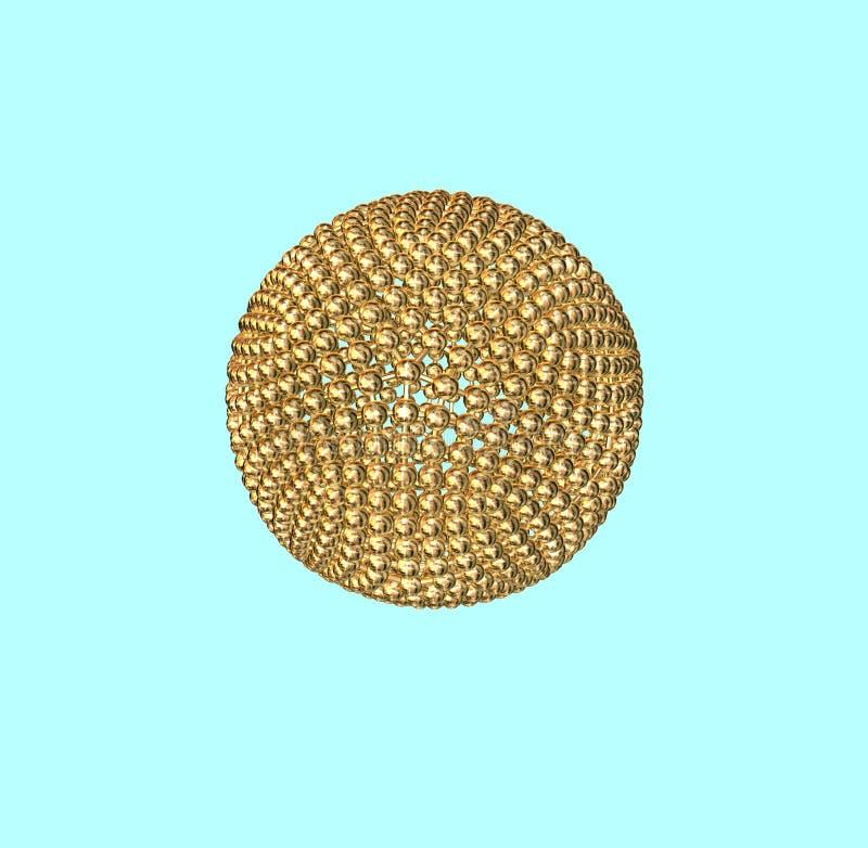 piłka złota atom. ilustracja wektor