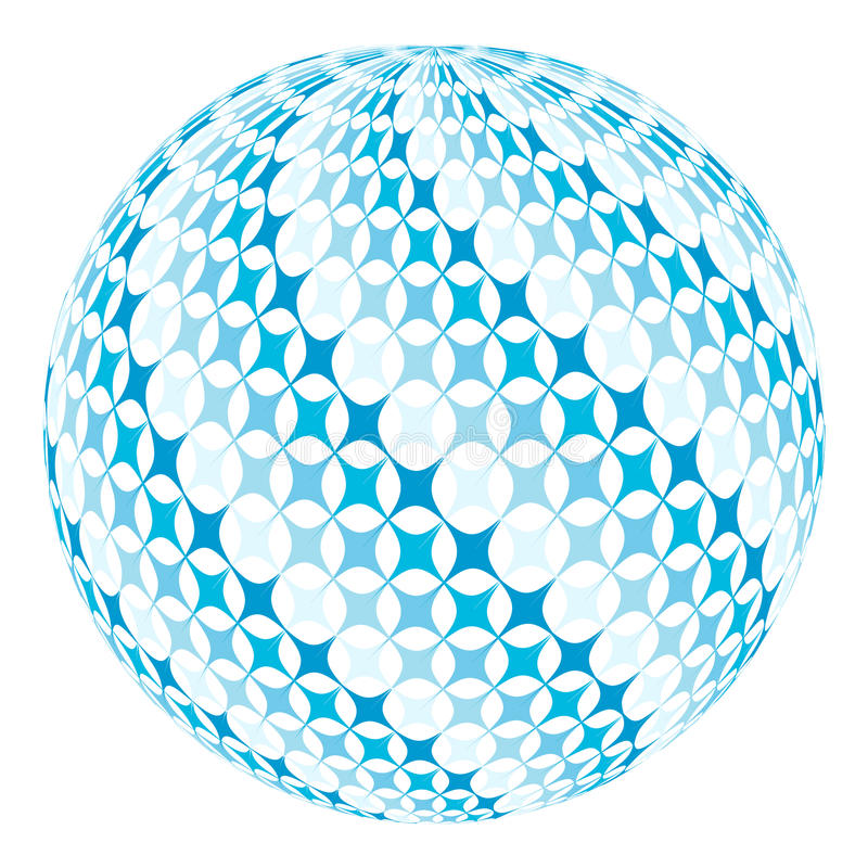Piłka z diagonalnym zawijasem ilustracja wektor
