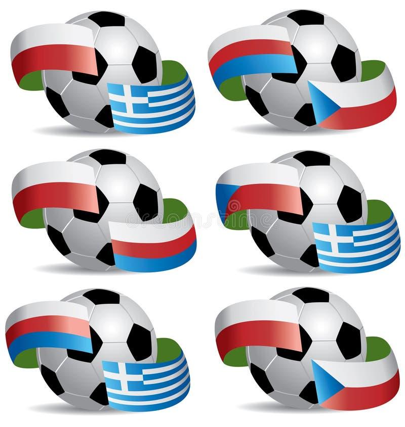 piłka zaznacza piłkę nożną obraz royalty free