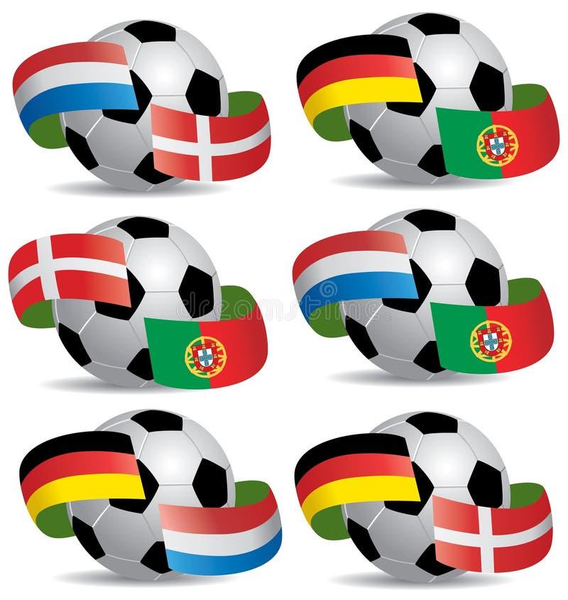 piłka zaznacza piłkę nożną obrazy stock