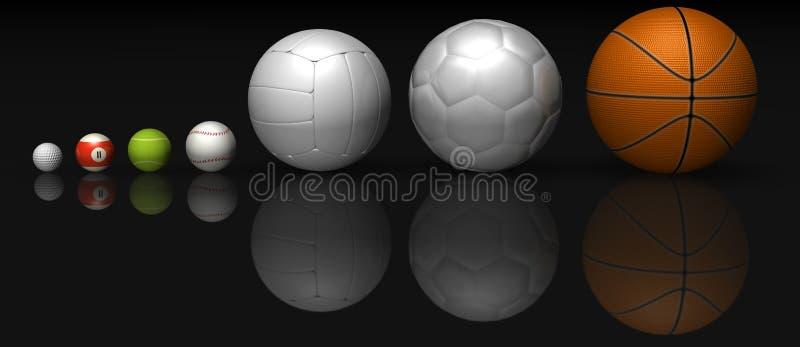 piłki ilustracja wektor