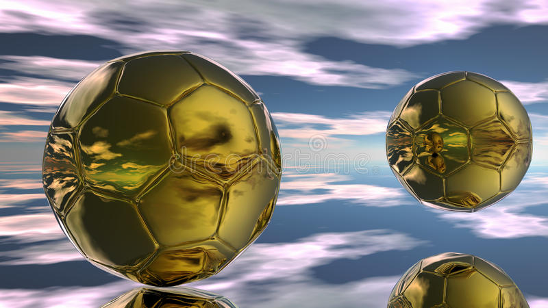 piłki abstrakcjonistyczna piłka nożna royalty ilustracja