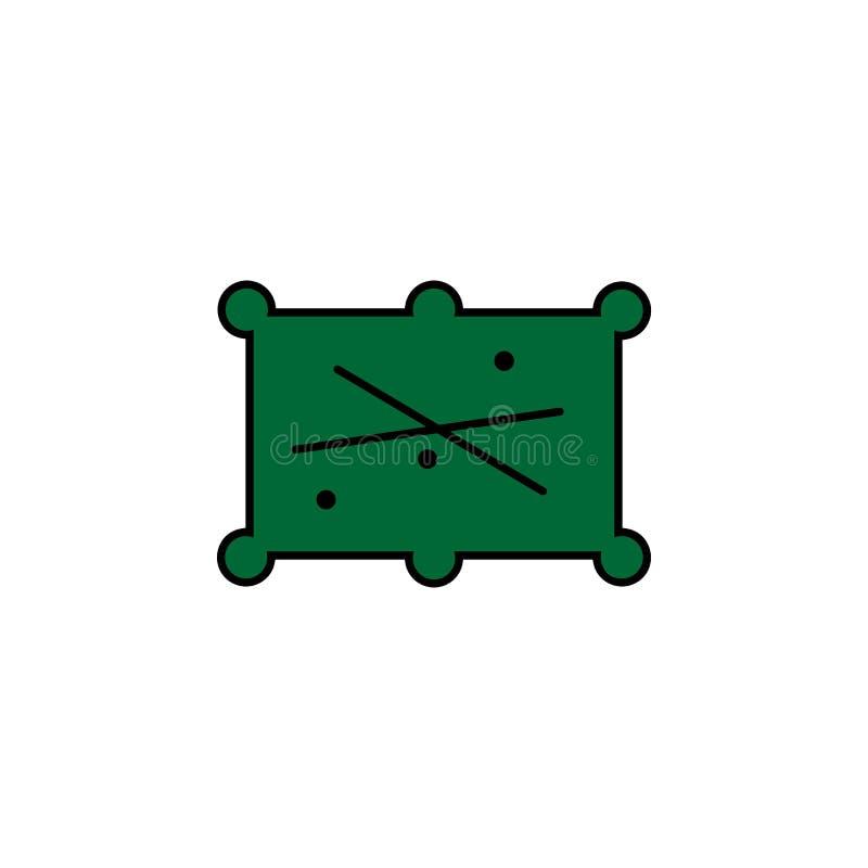 Piłki, bilardowe Element kasynowa ikona dla mobilnych pojęcia i sieci apps Szczegółowe piłki, bilardowe mogą używać dla sieci i w ilustracja wektor