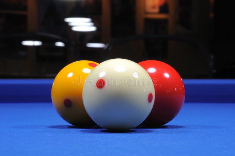 piłki billiard ii trzy zdjęcia stock