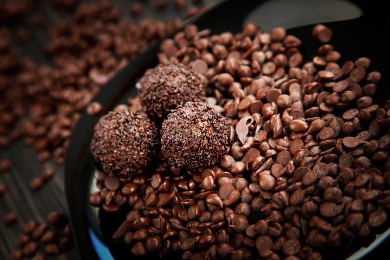 piłki czekolada kropi zdjęcie royalty free