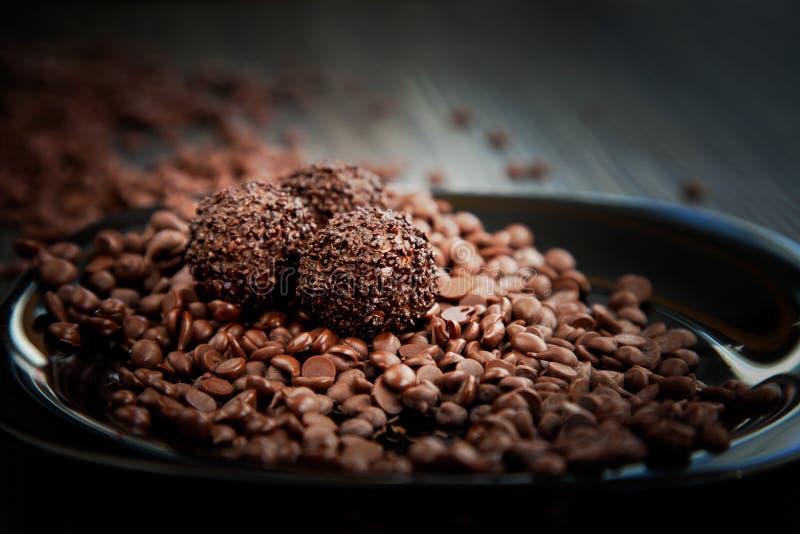 piłki czekolada kropi zdjęcie stock