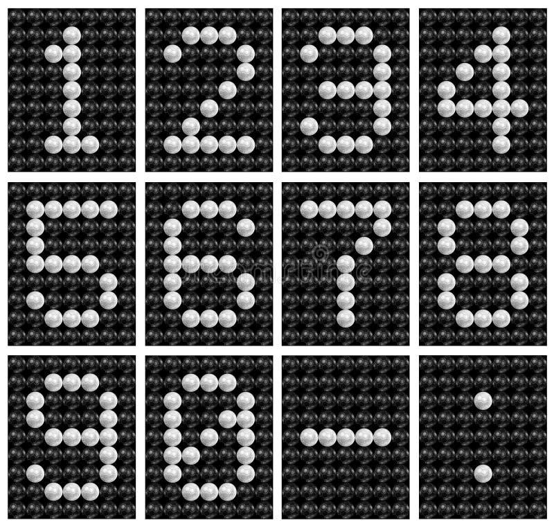 piłki deski liczby wynika piłka nożna royalty ilustracja