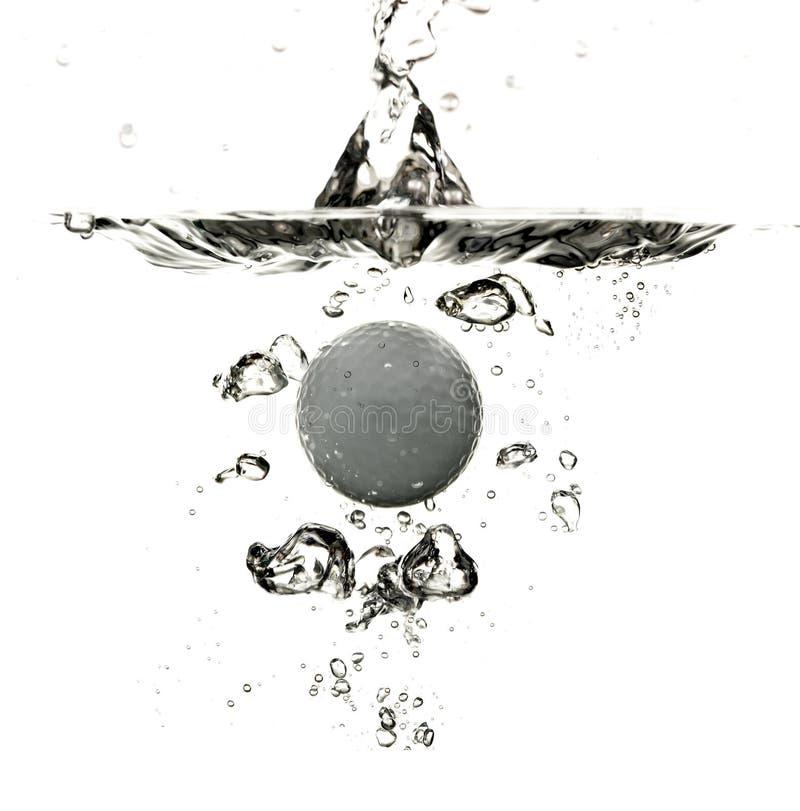 Piłki Golfowa Chełbotania Woda Obraz Royalty Free