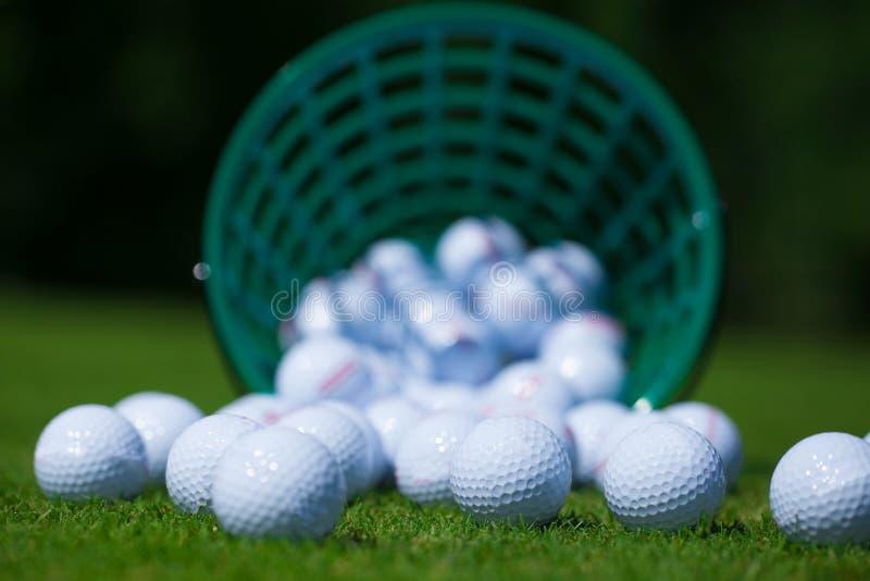 Piłki golfowe koszykowe obrazy royalty free