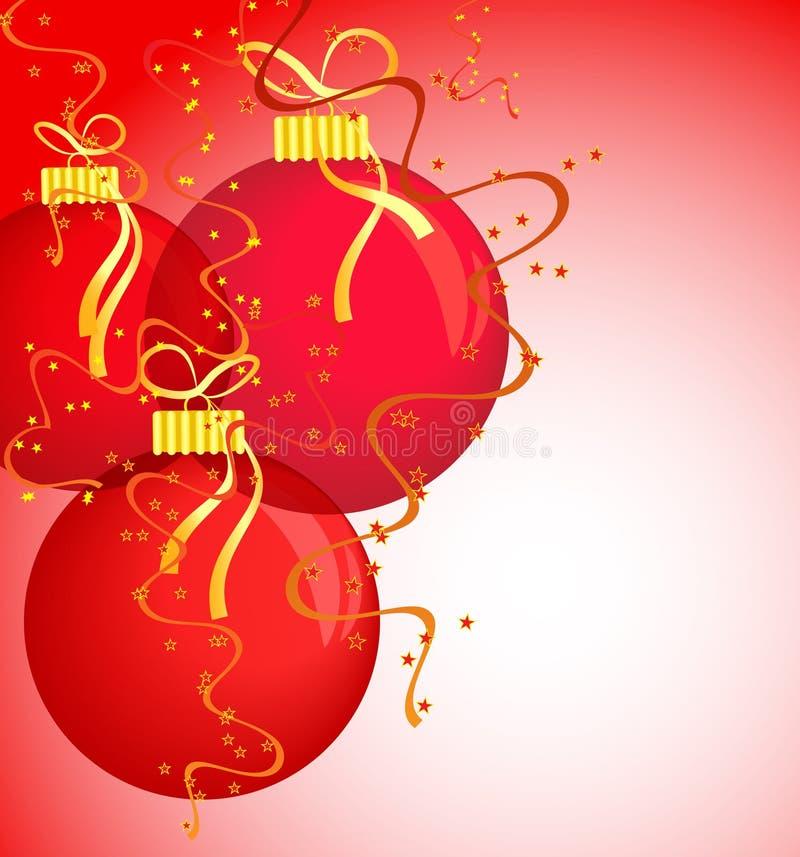 piłki gręplują czerwień nowego rok s ilustracji