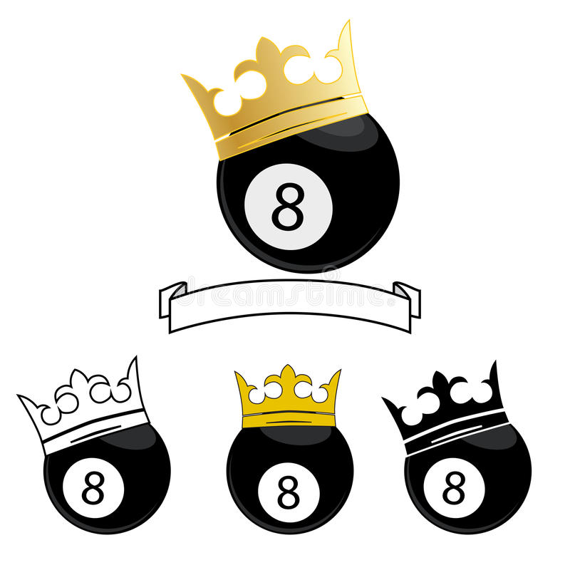 8 piłki liczba royalty ilustracja