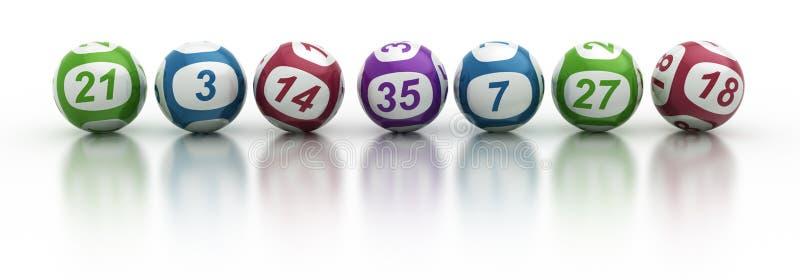 piłki loteryjne ilustracji