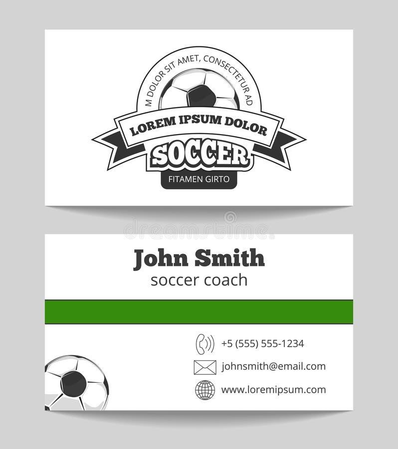 Piłki nożnej świetlicowa wizytówka ilustracji