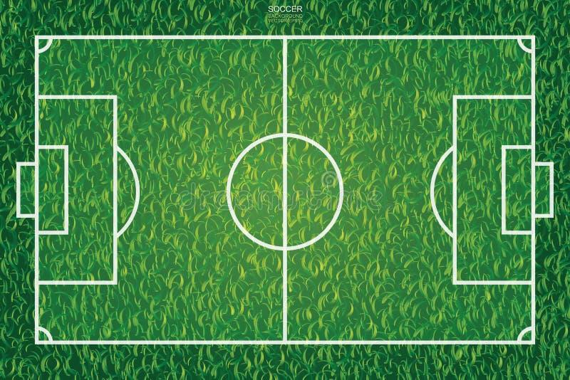 Piłki nożnej boiska piłkarskiego tekstury i wzoru tło wektor ilustracja wektor