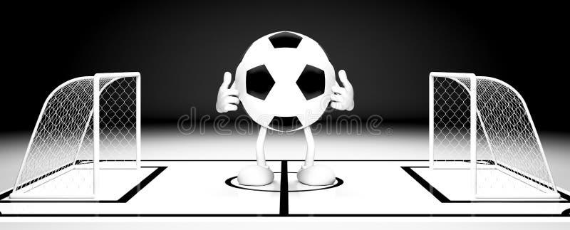 Piłki nożnej piłki brama ilustracja wektor