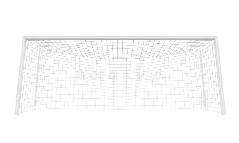 Piłki nożnej Bramkowa poczta Odizolowywająca ilustracja wektor
