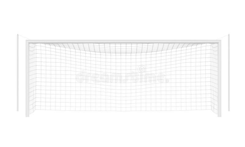 Piłki nożnej Bramkowa poczta Odizolowywająca ilustracji