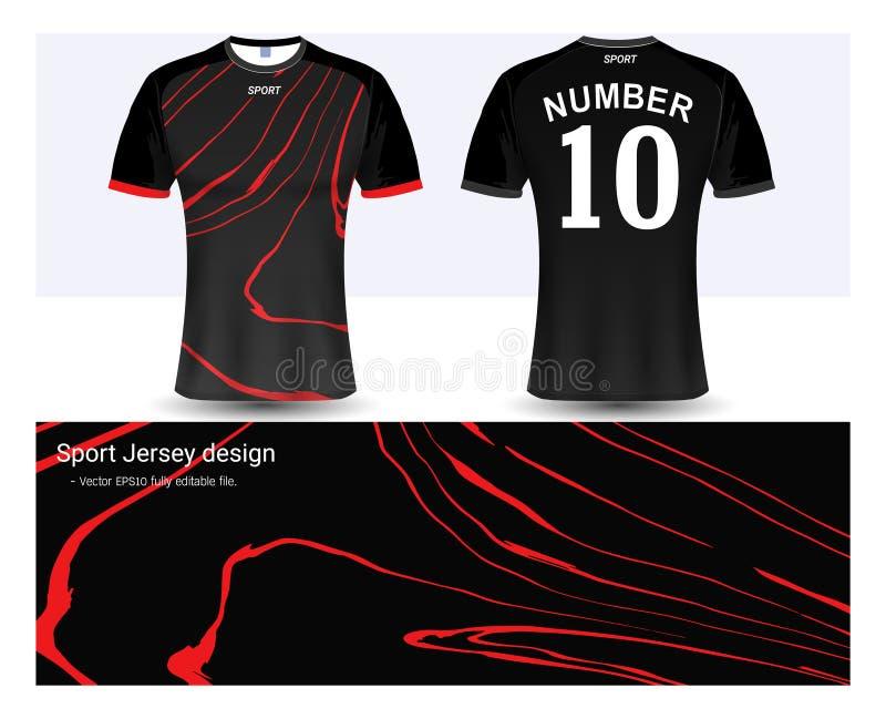 Piłki nożnej bydło i koszulka sporta mockup szablon royalty ilustracja