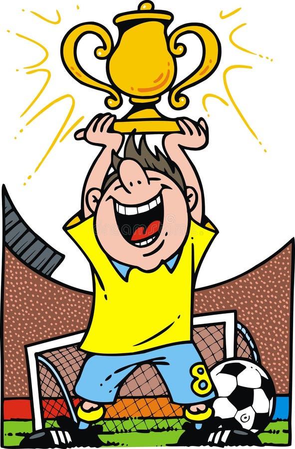 Piłki nożnej chłopiec z piłką royalty ilustracja