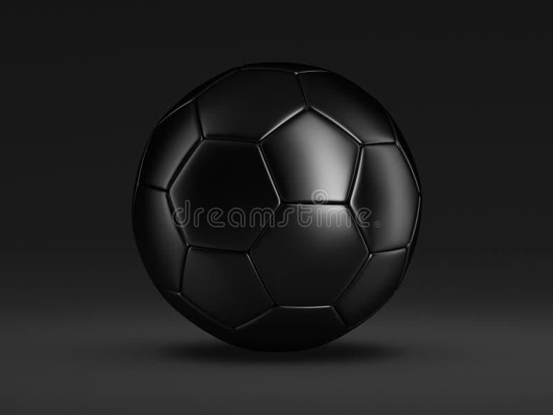 Piłki nożnej czarny piłka ilustracji
