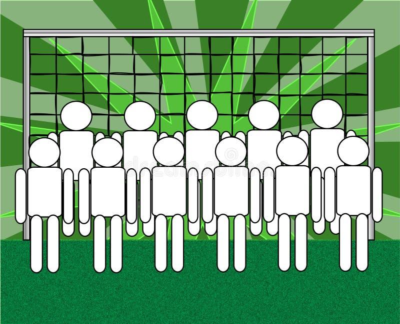 piłki nożnej drużyna royalty ilustracja